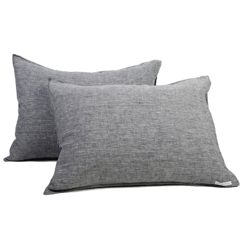 Linen Sham Set - Heather Charcoal
