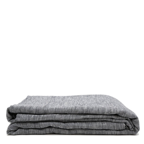 Linen Flat Sheet - Heather Charcoal