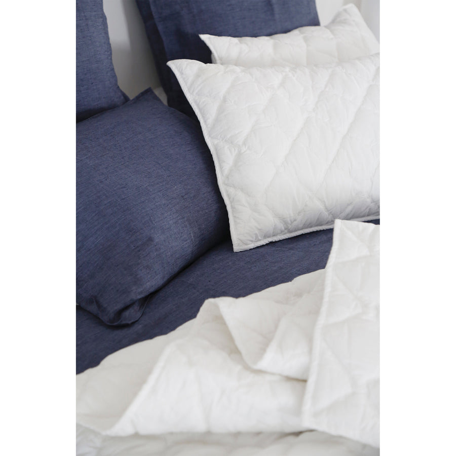 queen cotton white coverlet