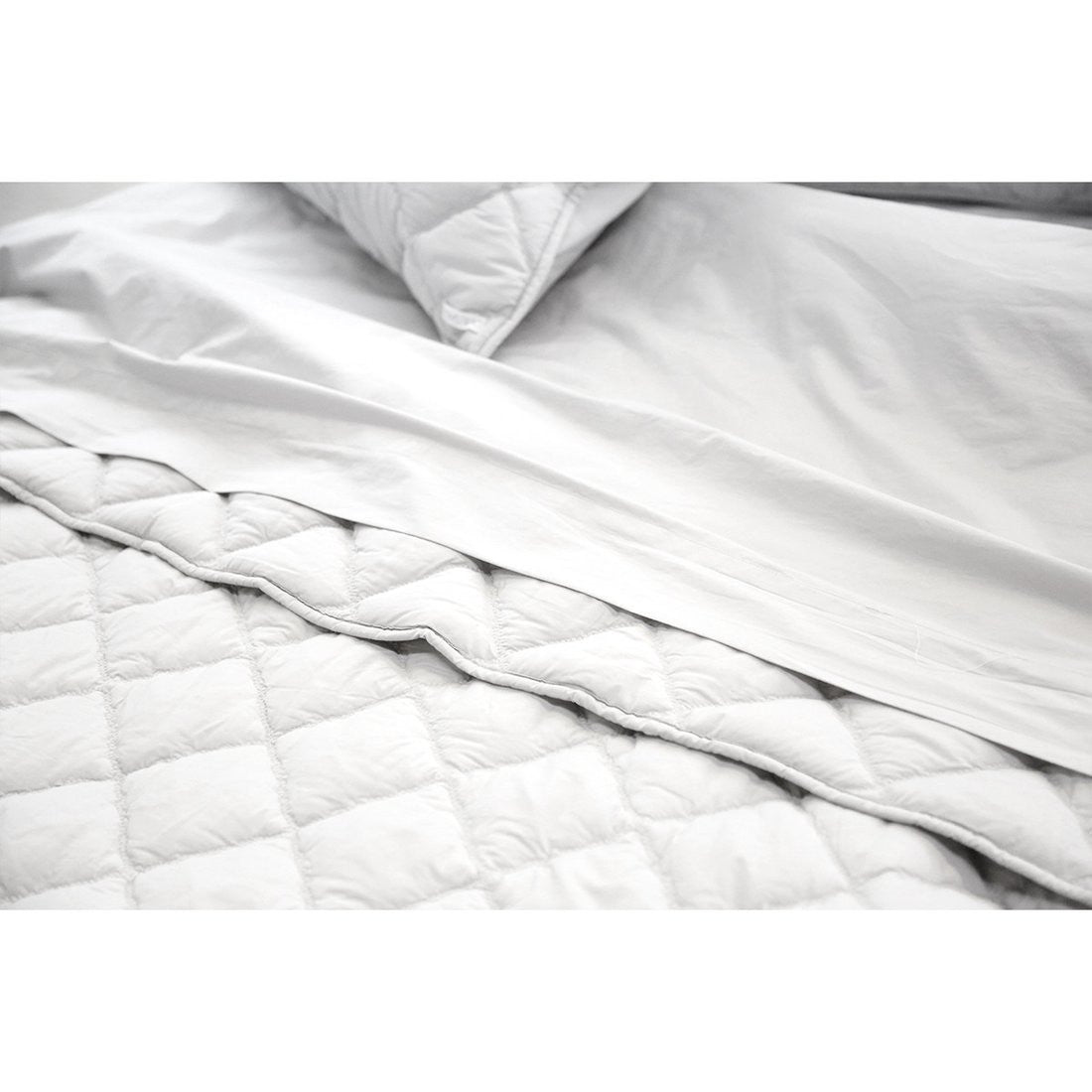 <b>SALE!</b> <br>Cotton Coverlet Set - Light Grey