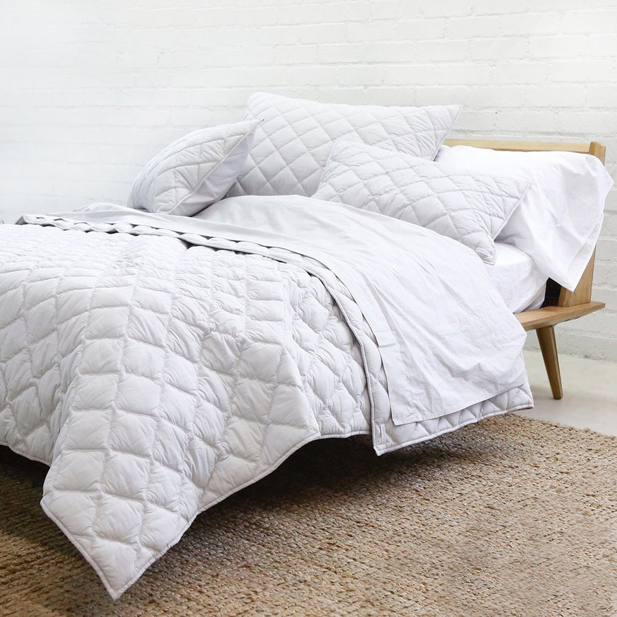 light grey queen cotton coverlet