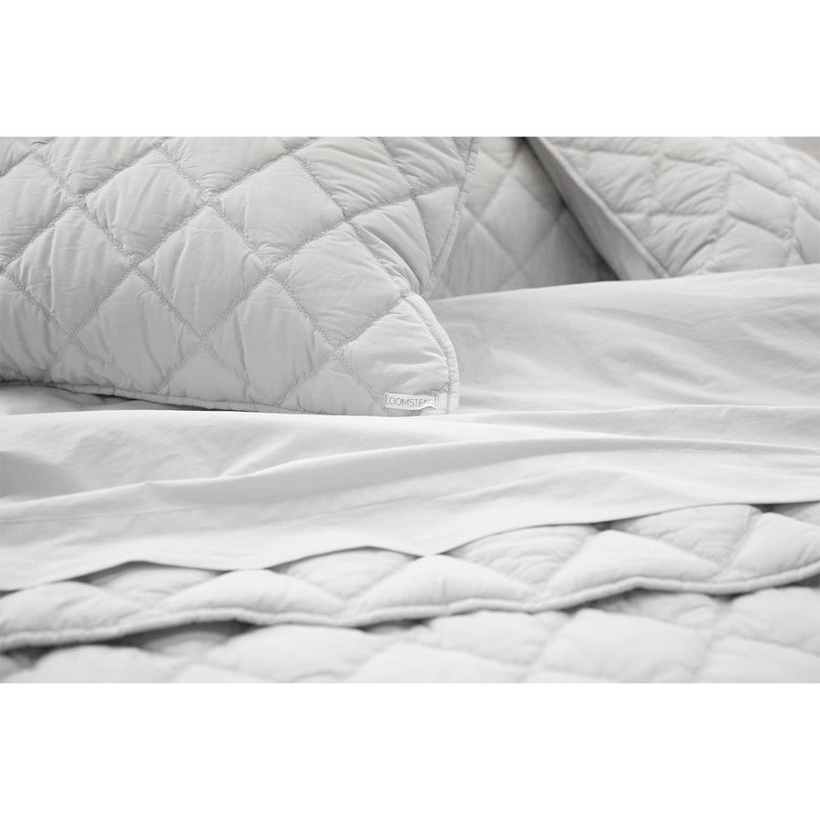 light grey king cotton coverlet