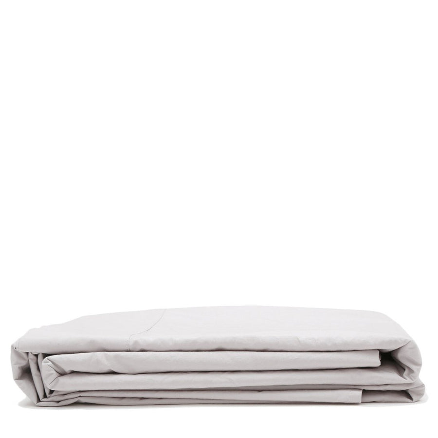 cotton flat sheet light grey