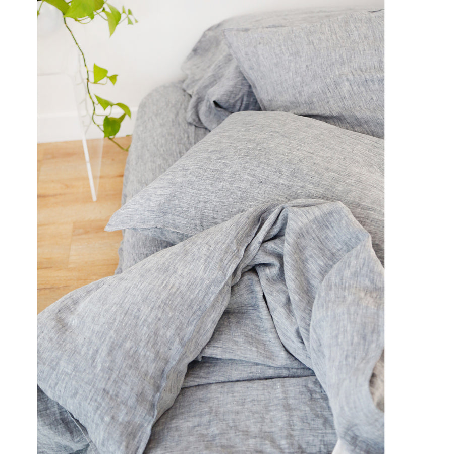 heather charcoal duvet set