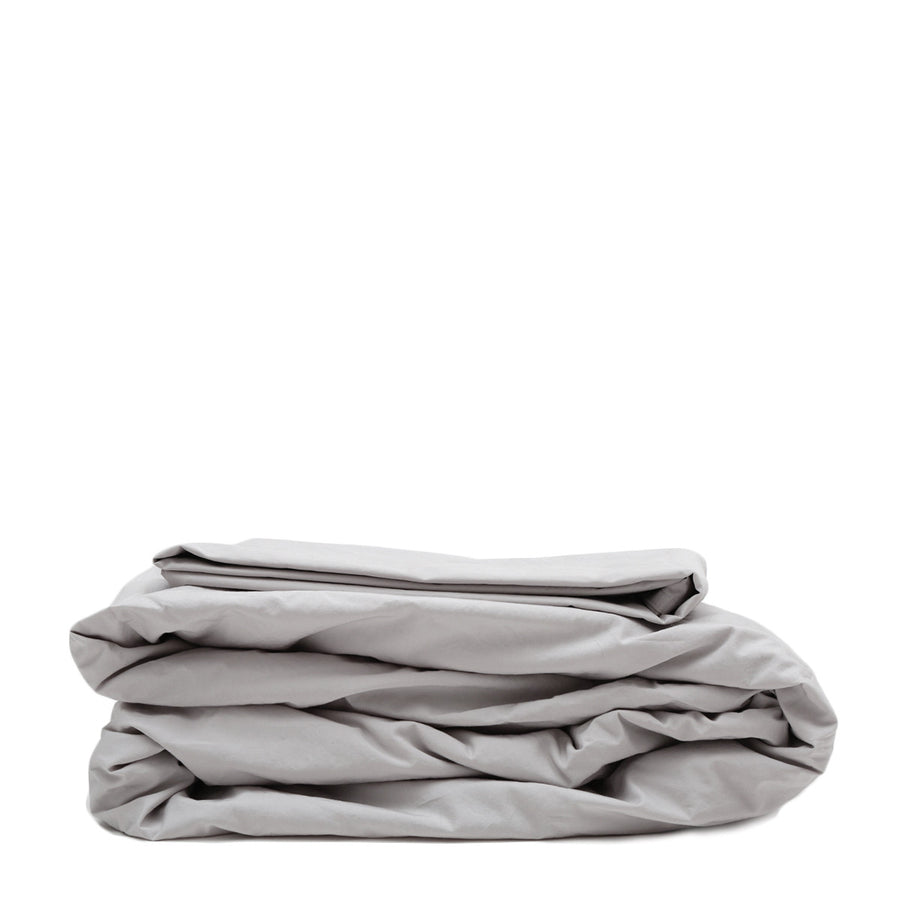 sheet set light grey cotton