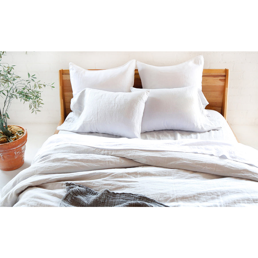 duvet light grey linen set