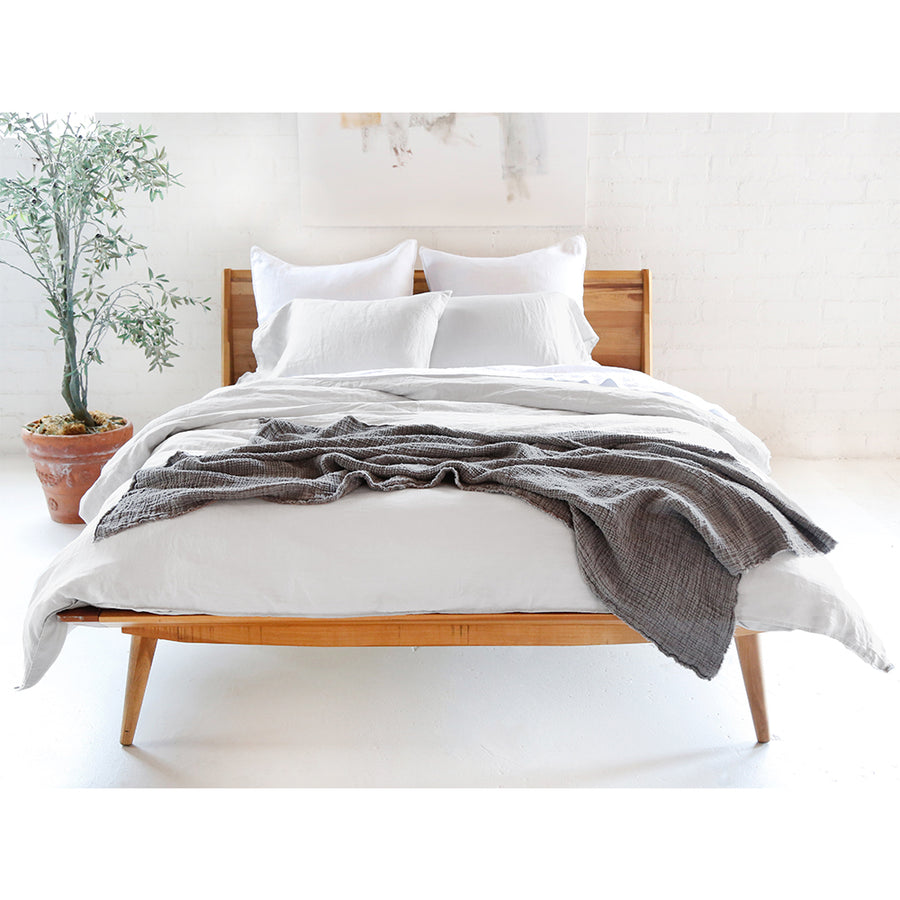 light grey linen duvet set