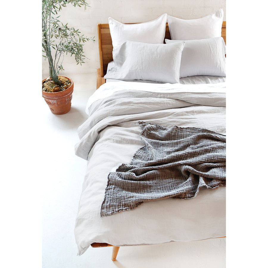 linen duvet light grey