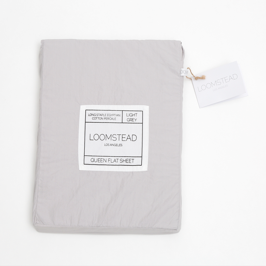 cotton light grey flat sheet
