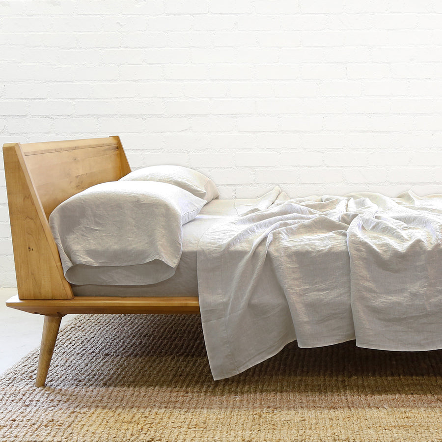 Linen Sheet + Pillowcases - Natural