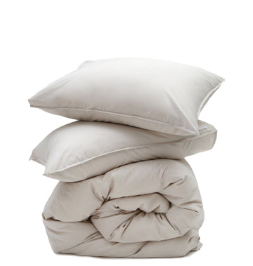 cotton duvet taupe