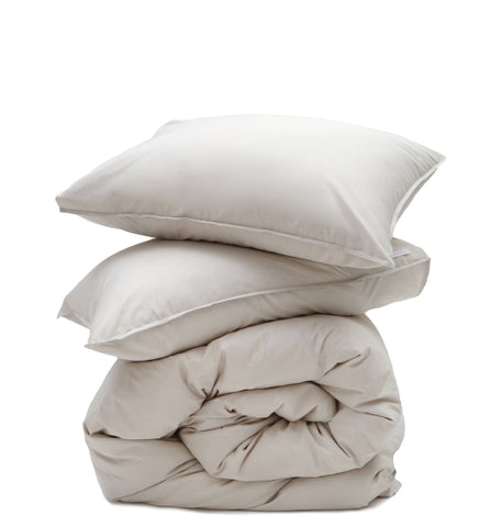 Cotton  Duvet  + Pillow Shams -  Taupe