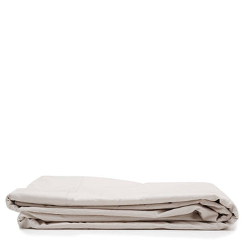 cotton flat sheet taupe