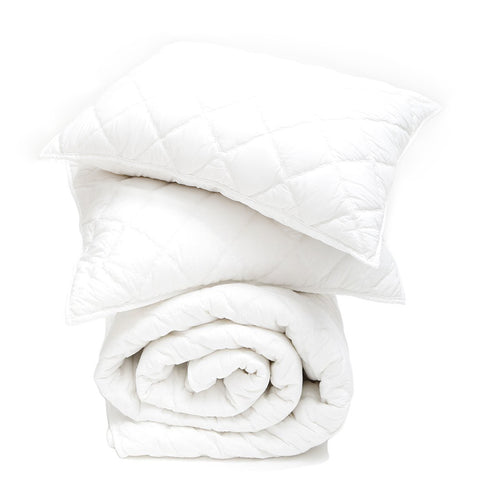 white cotton coverlet set