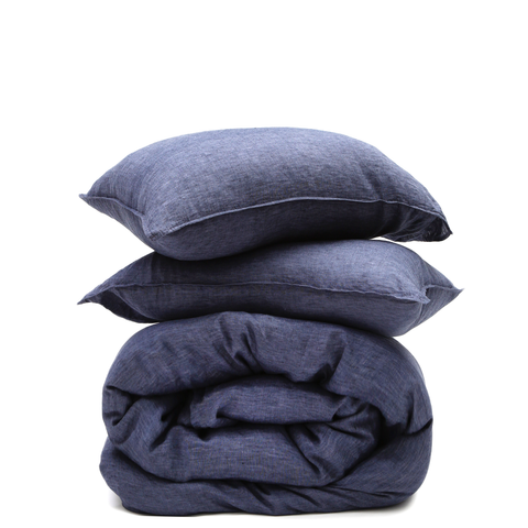 heather navy duvet
