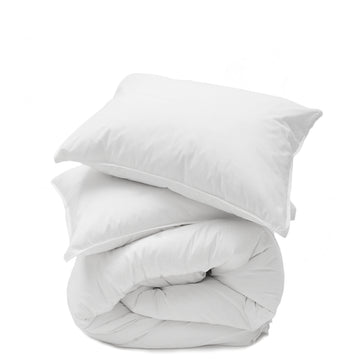 white cotton duvet
