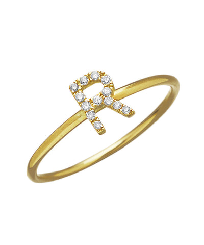 Brilliant Diamond Initial Ring