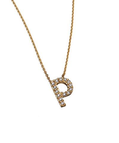 Lowercase Initial Diamond Letter Pendant