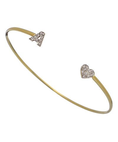 Favorite Initial and Diamond Bangle