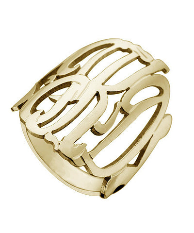 Three Letter Monogram Ring