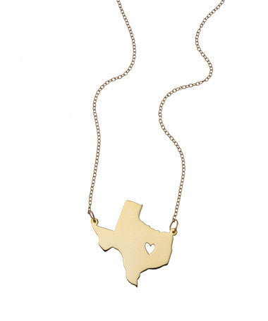 State and City Necklace