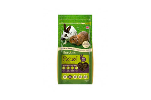 Burgess Excel Adult Rabbit med mint - Prøvepose - 60gr