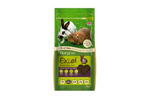 Burgess Excel Adult Rabbit med mint 2kg.