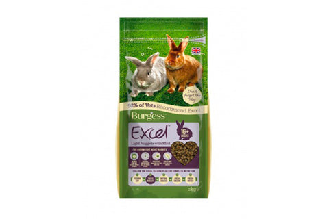 Excel Light Rabbit med mint 2kg. - RabbitDK