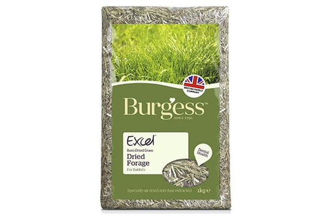Excel dried fresh grass (hø) 1kg. - RabbitDK