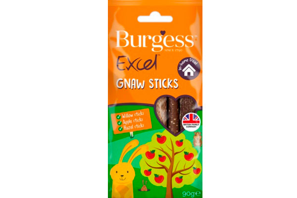 Excel Snacks Gnaw Sticks 9 stk eller 90g. - RabbitDK