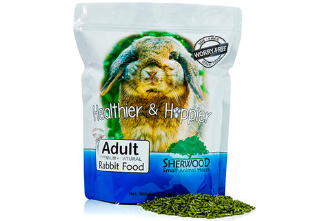 Sherwood Adult Rabbit Food - PRØVEPOSE - Korn og Soya fri ! Max 1 stk. Pr. Kunde - RabbitDK
