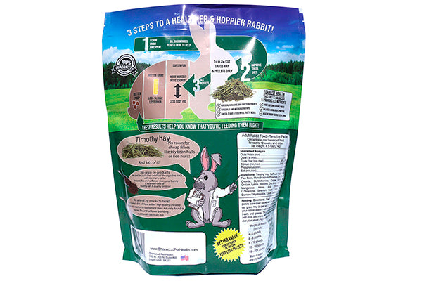 Sherwood Adult Rabbit Food - Timothy Pellet- 2,04 kg. - Korn-, Gluten- og Soya fri !