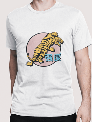 Pink Tiger Tee - In White