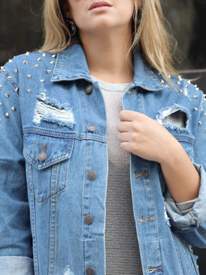 Spike Me Denim Jacket