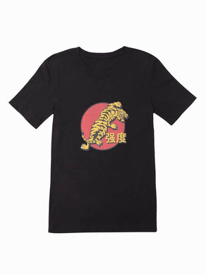 Red Tiger Tee - Black