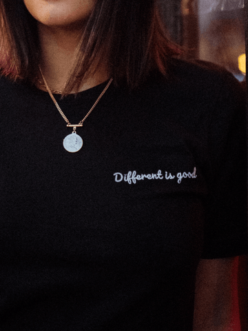 Different Is Good Tee - In Black