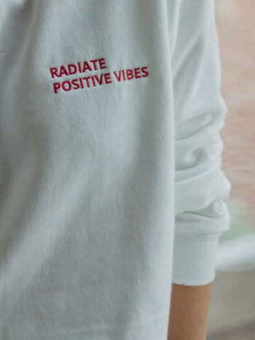 Radiate Positive Vibes Embroidered Sweatshirt