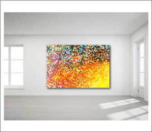 Virgin Color Crescendo - Commission the artist for a large scale abstract oil reproduction of Crescendo today
