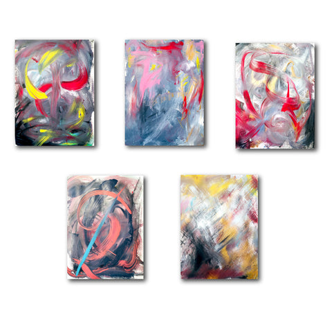 Pelaton Abstract Acrylic Art + Minimalist Art + Modern Abstract Art + Large Wall Decor + Red Art + Yellow Acrylic Art + Pink Abstract Art