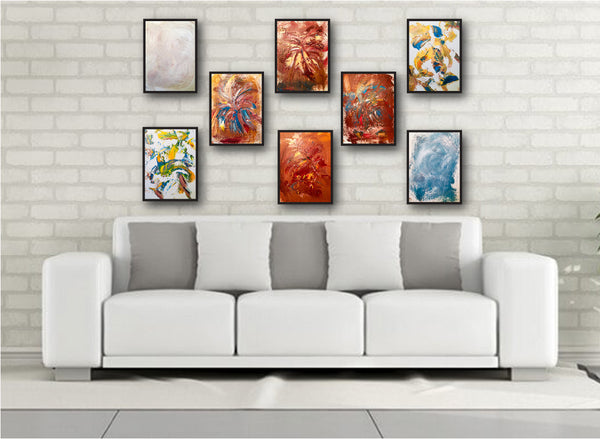 Abstract Painting + Abstract Landscape + Contemporary Painting + White Art +  Abstract Art + Original Art + Oil Painting + Modern Art + Canvas Wall Art + Multi Piece Art + Designer Art