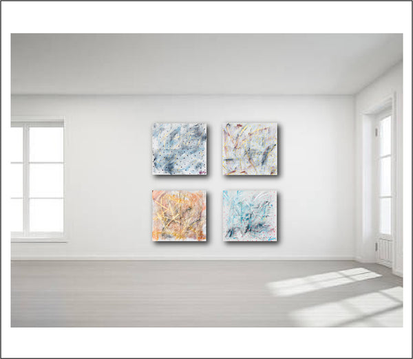 Abstract Art + Abstract Landscape + Contemporary Painting + Blue Art Red Art Yellow Art + Acrylic Art + Original Art + Acrylic Painting + Big Wall Art + Large Scale Wall Art +  + Modern Art by #TimHovdeFineArt