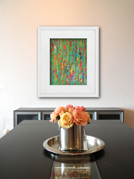 Abstract Painting + Abstract Landscape + Contemporary Painting + Garden Art + Textured Abstract Art + Original Art + Green Oil Painting + Southwest Art + Canvas Wall Art + Modern Art by #TimHovdeFineArt
