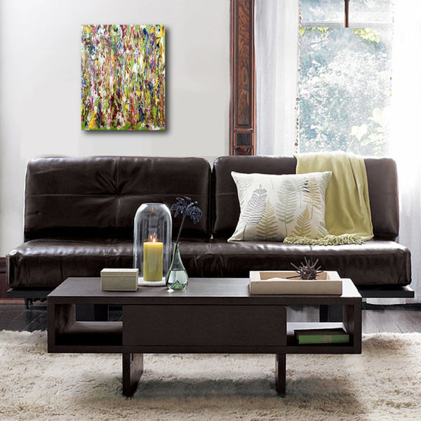 Abstract Painting + Abstract Landscape + Contemporary Painting + Garden Art + Textured Abstract Art + Original Art + Yellow Oil Painting + Green Art + Canvas Wall Art + Modern Art by #TimHovdeFineArt