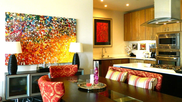 SOLD Virgin Color Crescendo abstract oversized artwork oil landscape painting #timhovdefineart