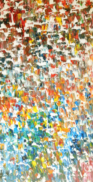 Virgin Color Crescendo 2 abstract oversized artwork oil landscape painting #timhovdefineart
