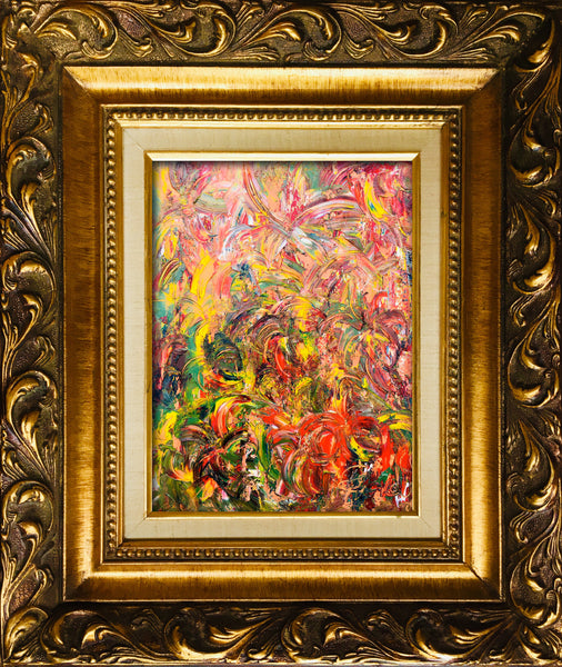 Fireworks of Flowers Summer original oil landscape fine art by #TimHovdeFineArt