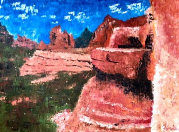 Sedona Canyon Overlook Original Oil Landscape Painting