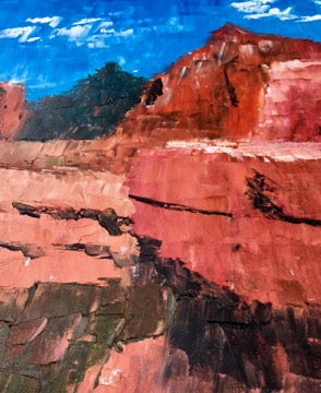 Sedona Canyon Overlook Original Southwest Oil Landscape Painting #timhovdefineart