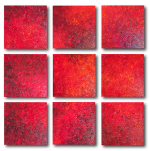 Abstract Painting + Abstract Landscape + Pooling + Contemporary Painting + Red Textured Art + Orange Abstract Art + Original Art + Oil Painting + Canvas Wall Art + Modern Art by #TimHovdeFineArt