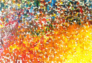 Virgin Color Crescendo abstract oversized artwork oil landscape painting #timhovdefineart